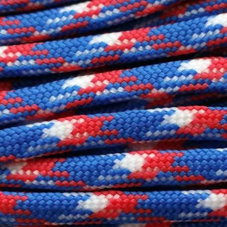 Paracord 550 kolor Blue/Red/White