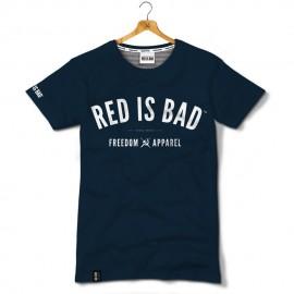 T-shirt Red is bad Freedom Apparel - Granatowa