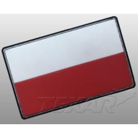 Emblemat Texar Flaga PL PVC roz. Duży