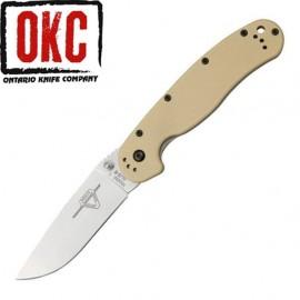 Nóż Ontario 8880 TN Rat 1 Folder SW Plain Edge Tan Handle