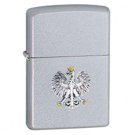 Zapalniczka Zippo Polski Orzeł- srebrny emblemat, Satin Chrome
