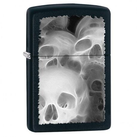 Zapalniczka Zippo Skulls Fractal, Black Matte