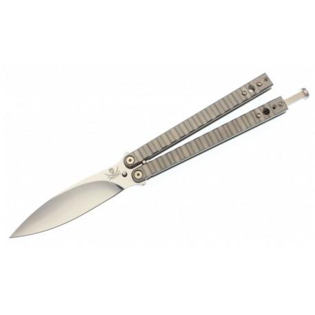 Nóż Exiled Cutlery Balisong Titanium Kimura Pattern Handles