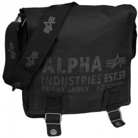 Torba na ramię Alpha Industries Cargo Oxford Courier Bag Black