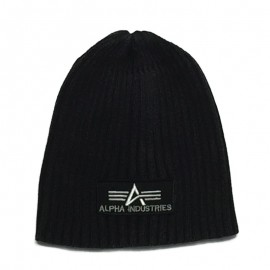 Czapka Alpha Industries Heavy Rib Beanie Wsh.Black