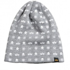 Czapka Alpha Industries All Over Loose Beanie Grey