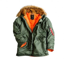 Kurtka Alpha Industries Alaska N3B Slim Sage Green
