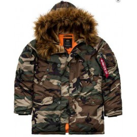 Kurtka Alpha Industries Alaska N3B Slim Woodland