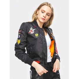 Kurtka damska Alpha Industries MA-1 TT Patch Wmn 03 black