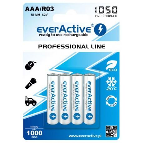 Akumulatorki everActive R03/AAA 1000 mAh, 4 szt.