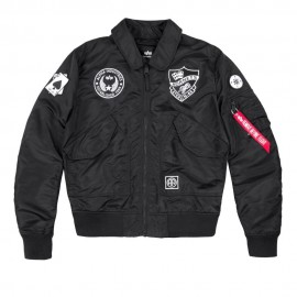 Kurtka Alpha Industries CWU VF LW Patch Black 186109-03