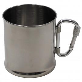 Kubek nierdzewny z karabińczykiem - 220 ml (33382)