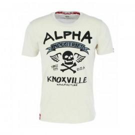 Koszulka Alpha Industries Skull T 196513 / 300 vintage white