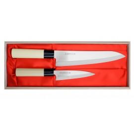 Satake Megumi Zestaw Nóż Uniwersalny + Szefa