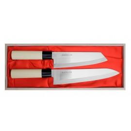 Satake Megumi Zestaw Nóż Bunka + Szefa (HG8167W)