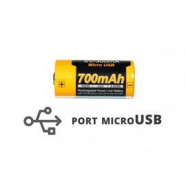 Akumulator Fenix 16340 USB ARB-L16UP (RCR123 700 mAh 3,7 V)