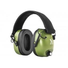 Słuchawki RealHunter Active oliwkowe (LE-401A)