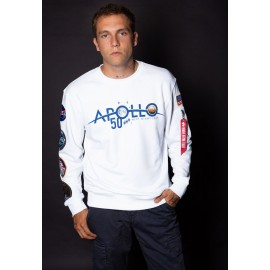 Bluza Alpha Iindustries Apollo 50 Patch Sweater biała (198363-09)