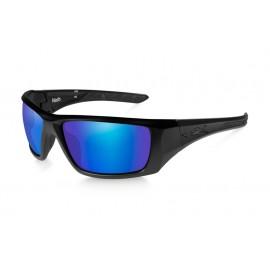 Okulary Wiley X NASH Polarized Blue Mirror Matte Black Frame (ACNAS09)
