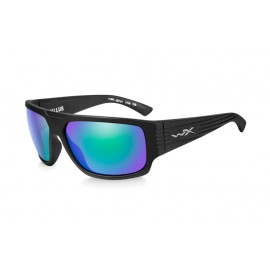 Okulary Wiley X VALLUS Polalized Emerald Mirror Matte Black Frame (ACVLS07)