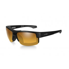 Okulary Wiley X COMPASS Polalized Amber Gold Mirror Matte Black Frame (CCCMP04)