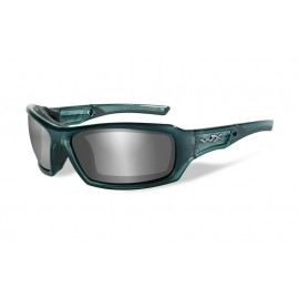 Okulary Wiley X ECHO Smoke Grey Silver Flash Smoke Steel Blue Frame (CCECH01)