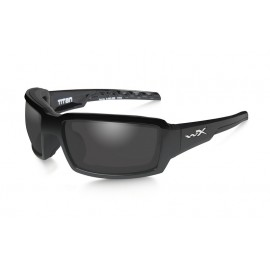 Okulary Wiley X TITAN Polarized Smoke Grey Gloss Black Frame (CCTTN08)