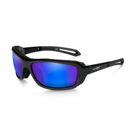 Okulary Wiley X WAVE Polarized Blue Mirror Gloss Black Frame (CCWAV09)