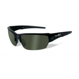 Okulary Wiley X SAINT Polarized Green Gloss Black Frame (CHSAI04)