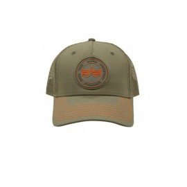 Czapka z daszkiem Alpha Industries Trucker Patch Cap dark green (186902)