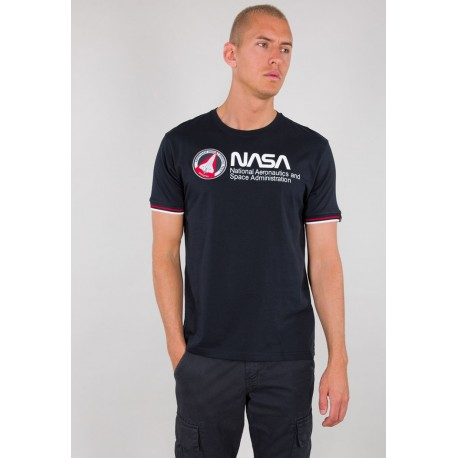 Koszulka Alpha Industries Nasa Retro T repl.blue (128512)