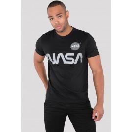 Koszulka Alpha Industries NASA Reflective T czarna (178501)