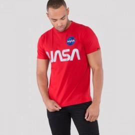 Koszulka Alpha Industries NASA Reflective T speed red (178501)