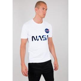Koszulka Alpha Industries NASA Reflective T white/blue (178501)