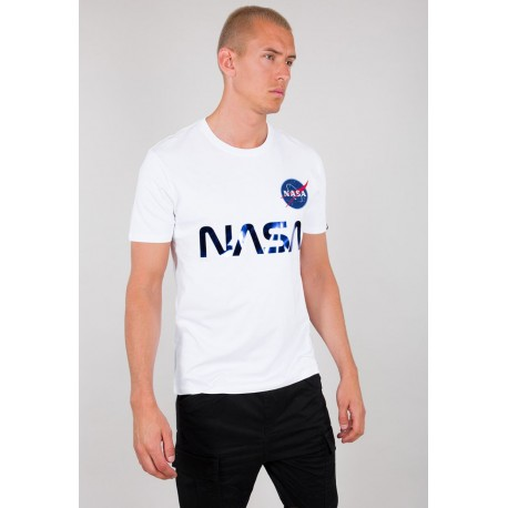 Koszulka Alpha Industries NASA Reflective T white/blue (178501)