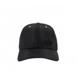 Czapka z daszkiem Alpha Industries Small Logo Flight Cap czarna (198906)