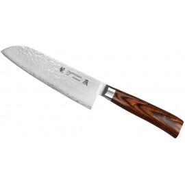 Nóż Tamahagane Tsubame Brown Pakka Santoku 17,5 cm (SNH-1114)
