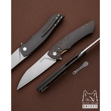 Nóż Herman Knives Ovium 12 M390 Stonewash