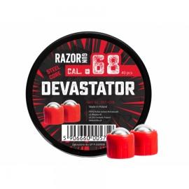 Kule metalowe RazorGun Steel Core Devastator kal. .68 / 40 szt.