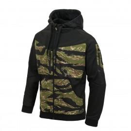 Bluza Helikon Rogue Hoodie Fullzipp Czarny/Tiger Stripe (BL-RHF-PO-0162A)