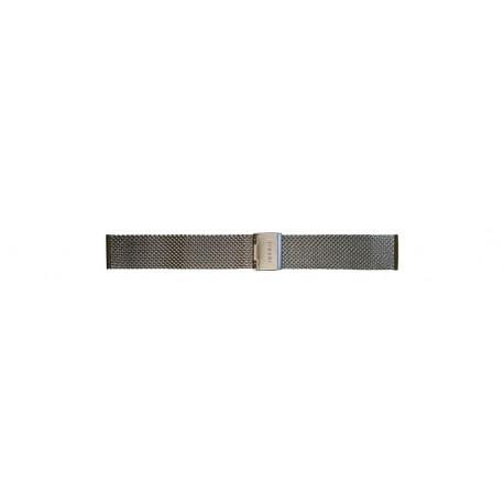 Bransoleta Traser 18mm - mesh - srebrna (108226)