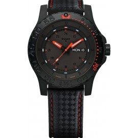 Zegarek Traser P66 Red Combat - leather/red carbon (105502)