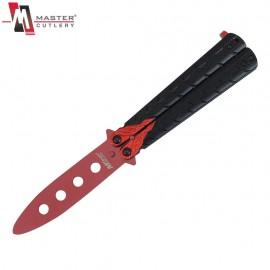 Nóż Master Cutlery Dragon Red Treningowy Motylek MT-872RD