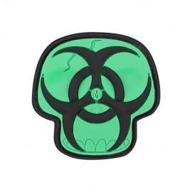 Naszywka Maxpedition Biohazard Skull wer. GLOW