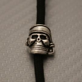 Koralik na Paracord Czaszka Pirat Posrebrzana 1