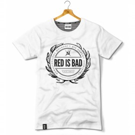 T-shirt Red is bad Herb wersja biała