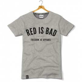T-shirt Red is bad Freedom Apparel - Szary