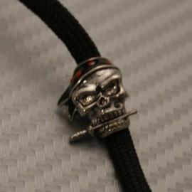 Koralik na Paracord Czaszka Pirat Posrebrzana 8
