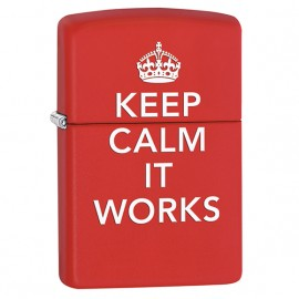 Zapalniczka Zippo Keep Calm It Works, Red Matte