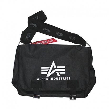 Torba na ramię Alpha Industries Big Oxford Courier Bag Black